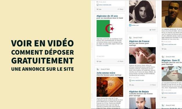 Voir en vidéo comment déposer gratuitement une annonce sur le site